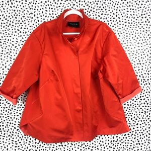 Lafayette 148 Bright Orange Shirt Jacket